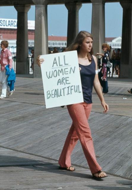 """Акции протеста во время конкурса """"Мисс Америка"""", 1969 год"""