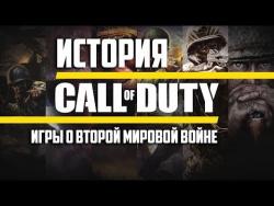 История игр серии Call of Duty по Второй Мировой войне