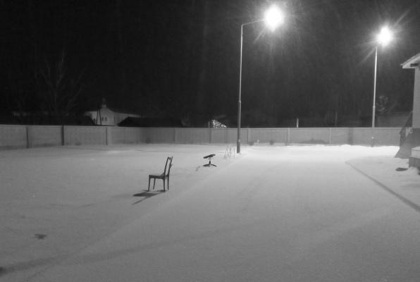 Ночь...снег идет