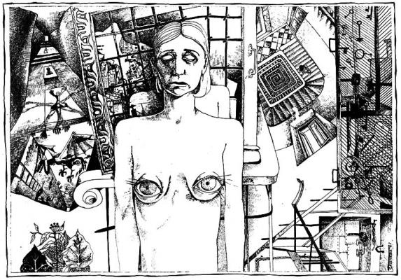 Графика Александры Сашневой Встреча с художником 27 мая в 20.00 КЛУБ АРКТИКА, Санкт-Петербург, ул. Беринга 38