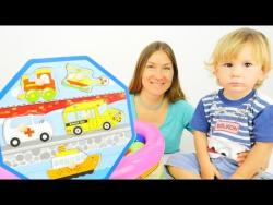 Дети и родители: Эмир собирает пазл! Развивающее видео для детей.